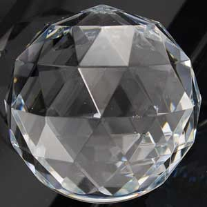 Clear Multi-Faceted 80mm Ball