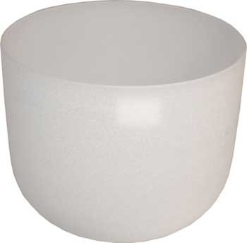 "20"" White Crystal Singing Bowl"