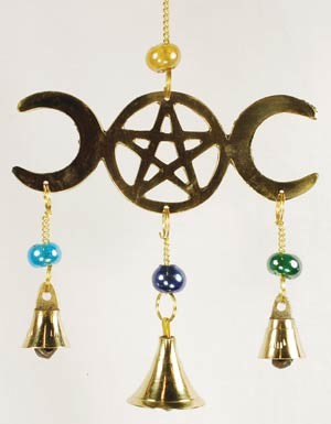 3 Bell Triple Moon wind chime