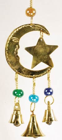 3 Bell Star and Moon wind chime