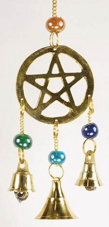 Three Bell Pentagram wind chime