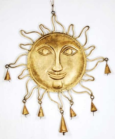 Golden Sun wind chime