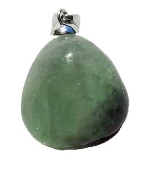 Fluorite tumbled pendant medium