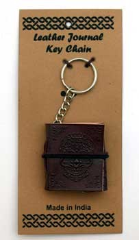 Day of the Dead leather journal key chain