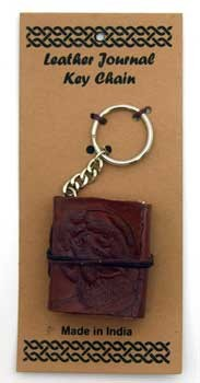 Wolf leather journal key chain