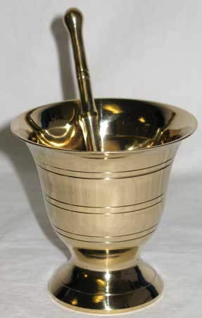 Mortar Pestle Brass large