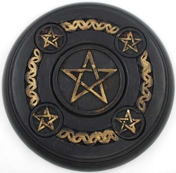 5 Pentagram Altar Tile wood