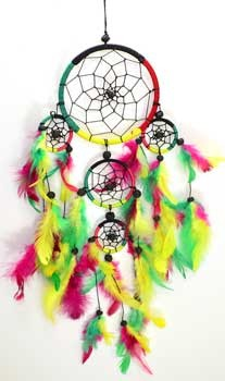 5 Ring dream catcher 4 1/2""