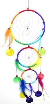 3 Rings dream catcher  6""