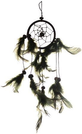 Black dream catcher  3""