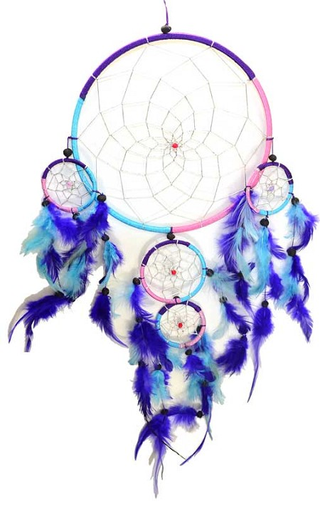 5 Rings dream catcher 8""