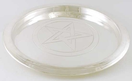 Silver-Plated Pentagram Plate 8 1/2""