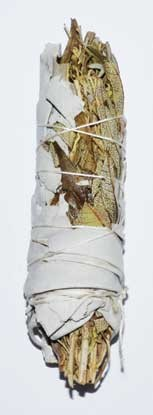 4' White & Blue Sage & Lavender & Sage Brush smudge stick