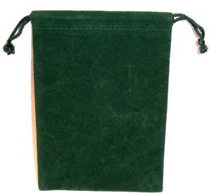 Bag Velveteen 4 x 5 1/2 Green