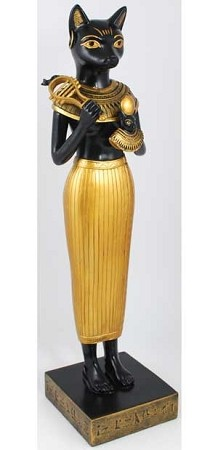 Bastet in Human Form statue