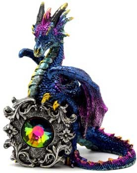 Dragon multi colored crystal