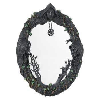 "17"" Maiden, Mother, Crone wall mirror"