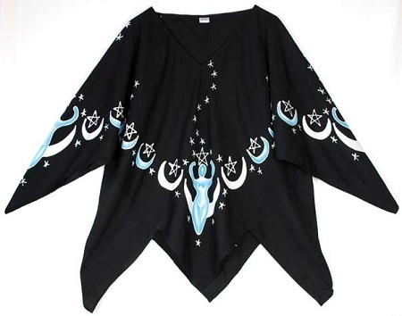 Moon Goddess Top black