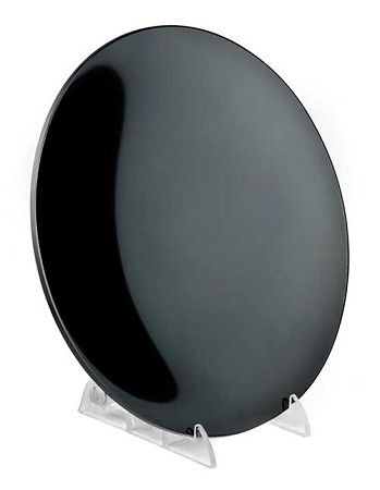 Concave Black scrying mirror 8""