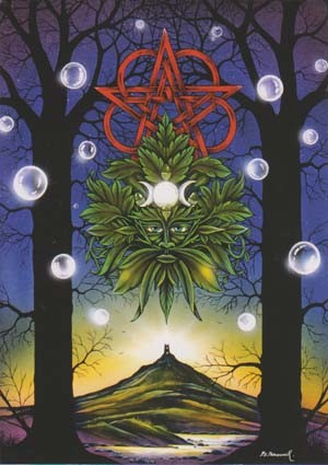 Green Man Avalon Greeting Card