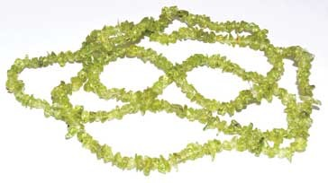 "32"" Peridot chip necklace"
