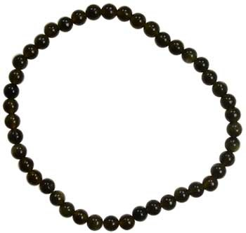 Black Obsidian Stretch Braclet 4mm