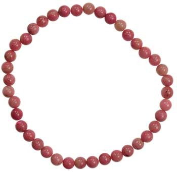 4mm Rhodonite stretch