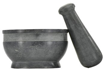 Plain mortar and pestle set 4 inch