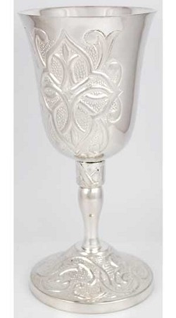 Gothic Cross Silver Chalice