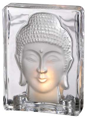 Buddha tealight holder 5 3/8""